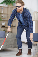 Visually Impaired Man Using St...