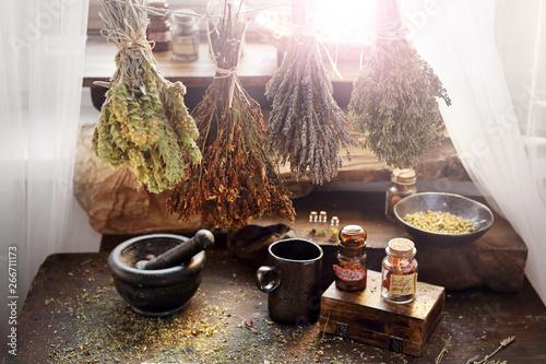 Photo  Herbal medicine and natural medicine