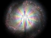 Man In Rainbow Light