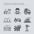 Farm Field icon. Agriculture sign