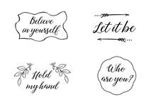 Believe In Yourself, Let It Be...