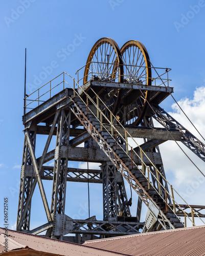Fotografie, Tablou  Mine shaft head from old diamond mine.