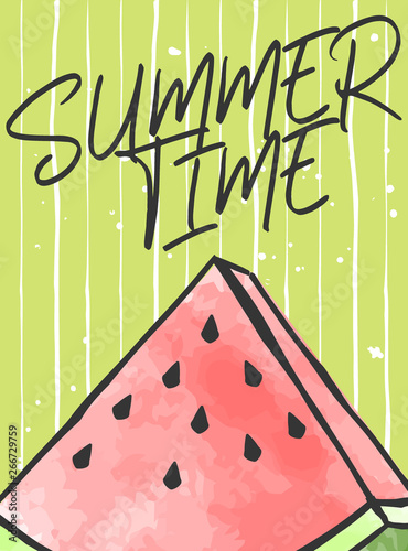 Deurstickers Retro sign cute summer poster