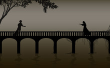 Romeo And Juliet Shakespeare S Play, Date,verona Bridge Silhouette, Love Story,