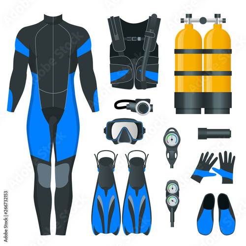Photo Man's Scuba gear and accessories