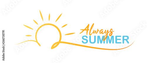 Always Summer Logo Wallpaper Mural