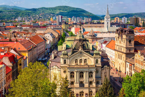 Fototapeta  Top view of Main street (Hlavna ulica) of Kosice Old city from St