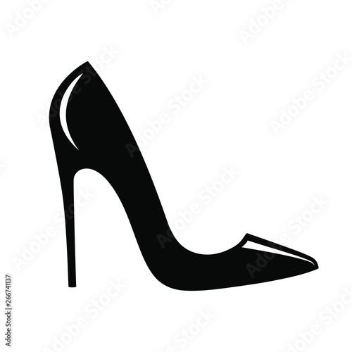 Valokuva High heel shoes icon