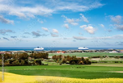 Poster Bleu magnifique paysage de la côte près de Calais