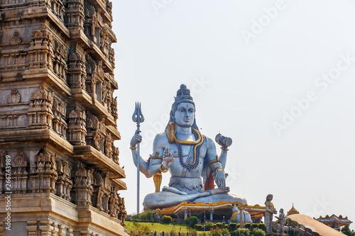 Fototapeta Lord Shiva Statue in Murudeshwar, Karnataka, India.