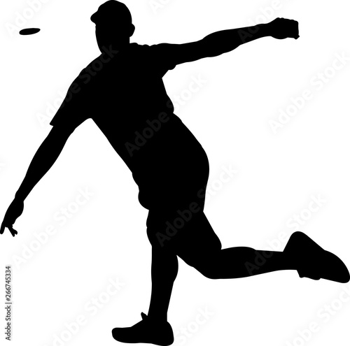 Fotografia, Obraz Disc Golf 9 isolated vector silhouette