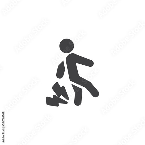 Valokuva  Numbness and tingling feet vector icon