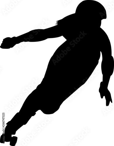 Valokuvatapetti Roller derby 9 isolated vector silhouette
