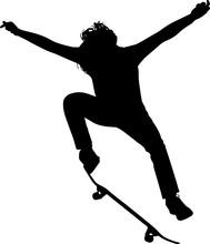 Skateboarding 4 Isolated Vecto...