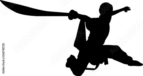 фотографія  Wushu 7 isolated vector silhouette