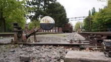Alte Bahnanlage In Der Fabrik