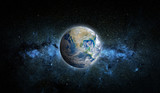 Fototapeta Kosmos - Planet Earth and star. Elements of this image furnished by NASA.