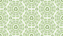 Recycling Pattern. Endless Background. Seamless.