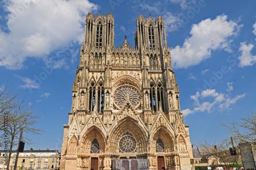 Fotografering Reims, la cattedrale di Notre-Dame - Francia