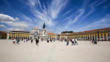 Place Du Commer, Lisbonne, Portugal