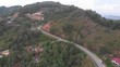 Beautiful Nature rural aerial landscape footage with local houses in 4k Resolution from Drone
