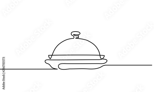Catering dish serving icon on the white background