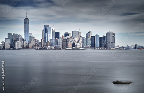 HDR view of Lower Manhattan. Canvas Print