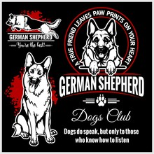 German Shepherd - Vector Set F...