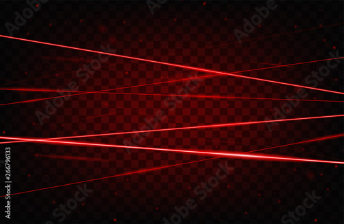 Red realistic laser beam background Fototapet