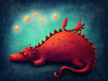 Red Dragon Sleeping