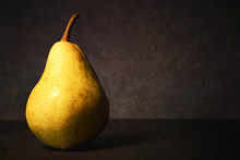 Pear On Dark Grunge Background...