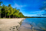 Mont Choisy Beach at sunset, Mauritius - 266817364