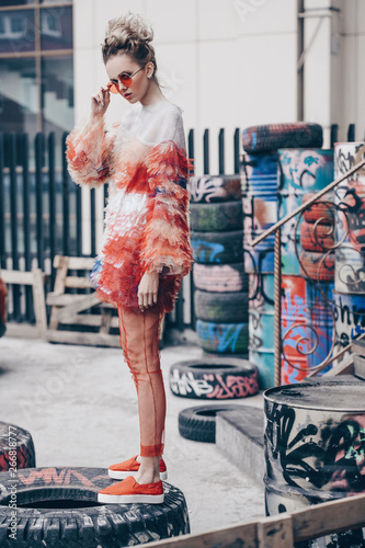 stylish street fashion Wall mural