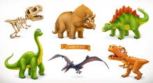 Dinosaurs Cartoon Character. B...