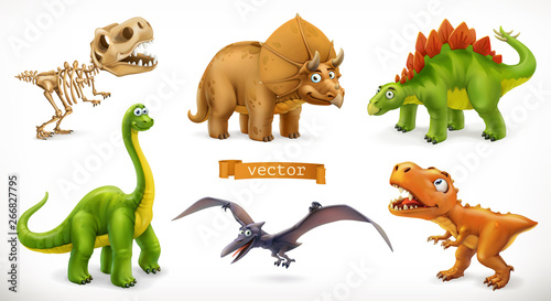 Dinosaurs cartoon character Canvas Print