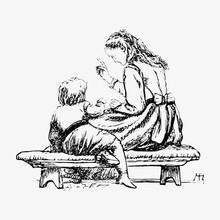 Lady Teaching A Child