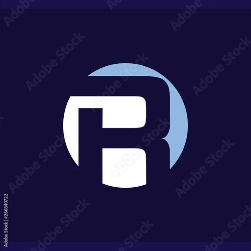 R in circle letter logo vector template Wallpaper Mural