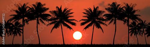 Foto auf AluDibond Ziegel beautiful sunrise on the sea