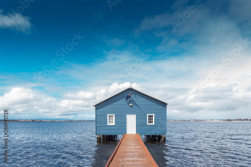 Beautiful scenery at Matilda Bay boathouse in the Swan River in Perth, Western Australia Wallpaper Mural