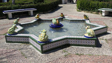 Famous Frog Fountain In Tarifa Square