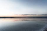 Fototapeta Morze - Sunrise view of chaka salt lake