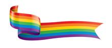 Vector A Rainbow Flag Waving O...