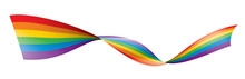 Vector A Rainbow Flag Waving O...