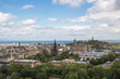 EDINBURGH, SCOTLAND - JUN12, 2017 : Landscape of Edinburgh city on the top view of Edinburgh castle