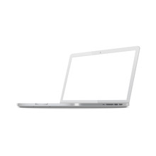 White Laptop Screen Mockup Fro...