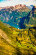 Geirangerfjord from Dalsnibba viewpoint, Norway