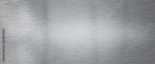 Fotografie, Obraz  Brushed steel plate background texture horizontal