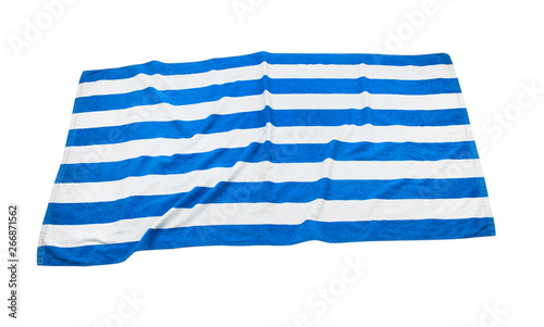 Stampa su Tela Beach towel top view isolated.