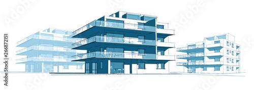 Obraz Projet d'immeuble en construction - fototapety do salonu