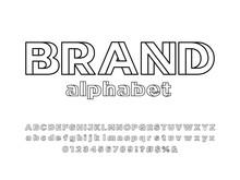 Vector Of Modern Abstract Alphabet Design